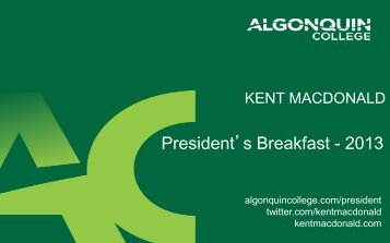 Here - Algonquin College
