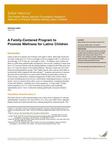 A Family-Centered Program to Promote Wellness for Latino Children