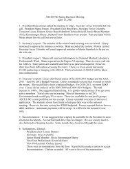 ASCLS-NE Spring Business Meeting April 15, 2011 1. President ...