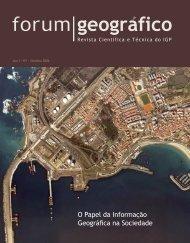 O Papel da Informação Geográfica na Sociedade - Instituto ...