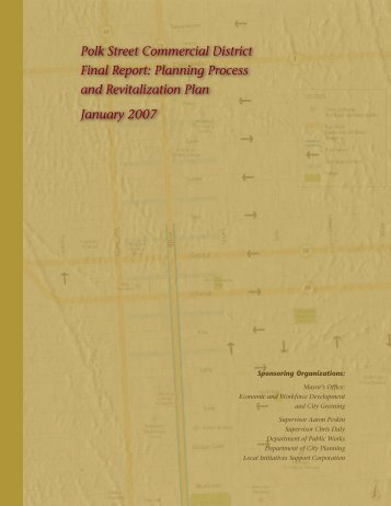 Polk Street Commercial District Final Report - Office of Economic ...