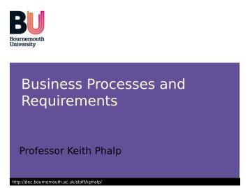 Business Processes and Requirements