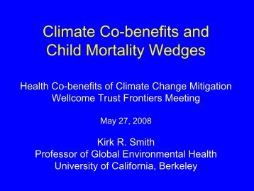 Climate Change and Health - Environmental Health Sciences, UC ...