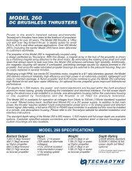Model 260 Brochure.pdf - Tecnadyne