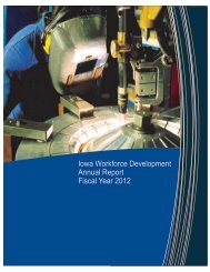 Iowa Workforce Development Annual Report Fiscal Year 2012