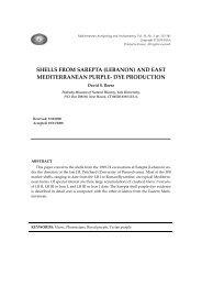 SHELLS FROM SAREPTA (LEBANON) AND EAST ...