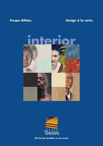 Trespa Athlon brochure and colour - Inter systems