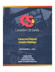 View the Presentation (PDF 747 KB). - Canadian Oil Sands