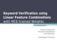 Keyword Verification using Linear Feature Combinations ... - NAiST