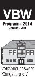 Download des Programms für das 1. Semester 2014 - snater.com