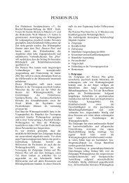 PENSION PLUS - FSP - Förderkreis Sozialpsychiatrie eV Münster