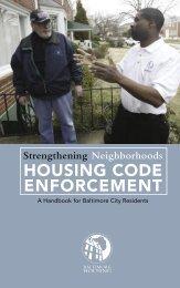 Baltimore City Housing Code Booklet - Hampden Community Council