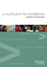 A Curriculum for Excellence: Progress and Proposals