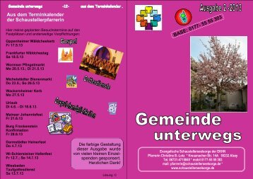 Gemeinde unterwegs 2-2013 - Evangelische Schaustellerseelsorge