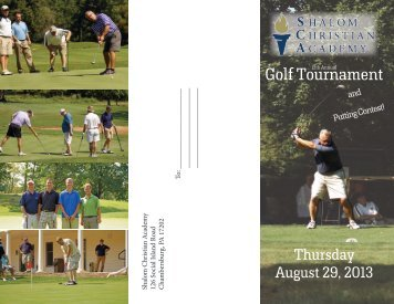 Golf Tournament - Shalom Christian Academy