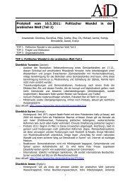 Protokoll vom 16.5.2011: Politischer Wandel in der arabischen Welt ...