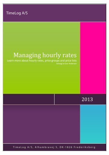 Managing hourly rates - TimeLog