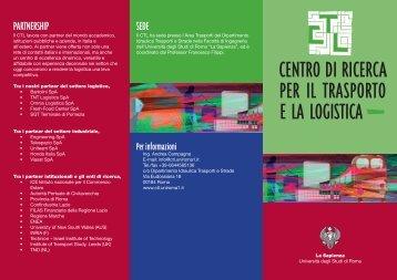 Brochure CTL ita.indd - CTL - Sapienza