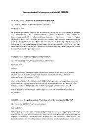 Kommentiertes Vorlesungsverzeichnis WS 2007/08