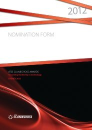 NOMINATION FORM - The Australian Institute for Commercialisation