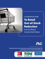 To Retail Out-of-Stock Reduction - Grocery Manufacturers Association