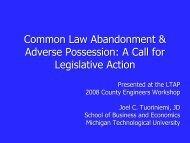 Common Law Abandonment Presentation