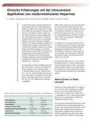 Klinische Erfahrungen mit der intravenösen ... - Vascularcare.de