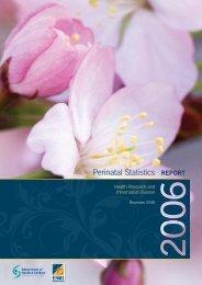 Perinatal Statistics Report 2006 - ESRI