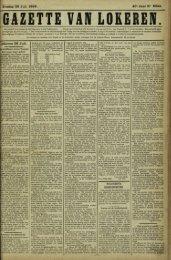 Zondag 29 Juli 1888. 45' Jaap N° 2844. Lokeren 28 Juli.