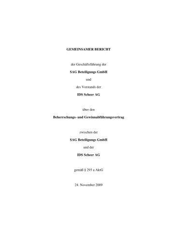 GEMEINSAMER BERICHT der Geschäftsführung der ... - Software AG