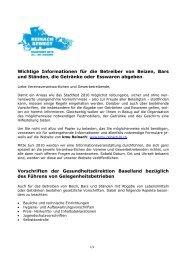 Wichtige Infos für die Betreiber von Beizen etc - kmu Reinach