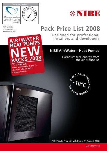 Pack Price List 2008 - Nibe