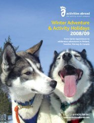 Winter Adventure & Activity Holidays 2008/09 - Em-Online