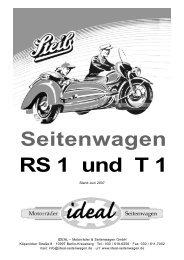 Seitenwagen RS 1 und T 1 - STEIB Seitenwagen