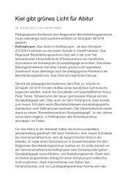 Kiel gibt grünes Licht für Abitur - GMS-Kellinghusen