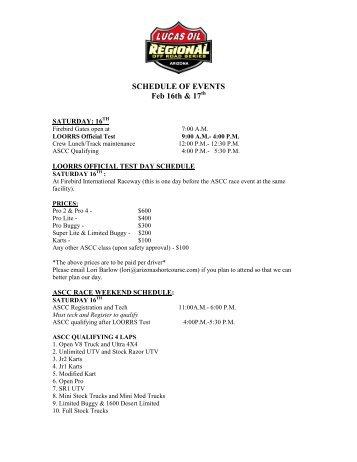 ebruary 17th (sunday) - arizona short course championship