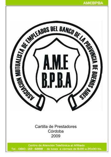 Cartilla de Prestadores Córdoba 2009 - amebpba