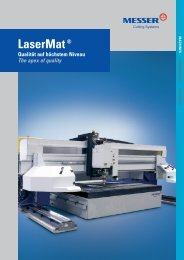 LaserMat® - Messer Cutting Systems