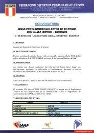 CONVOCATORIA - Confederación Sudamericana de Atletismo