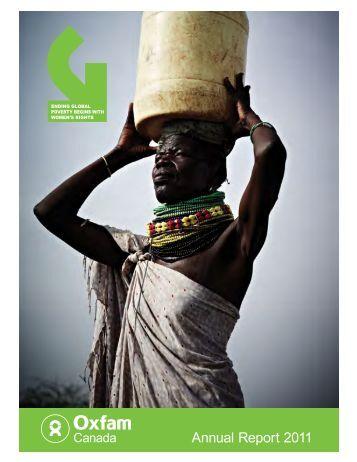 Annual Report 2011 - Oxfam Canada
