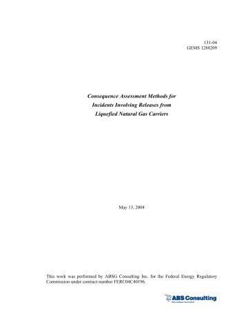 Consequence Assessment Methods for Incidents Involving ...