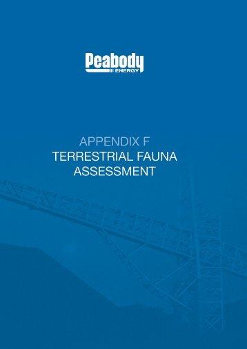 appendix f terrestrial fauna assessment - Peabody Energy