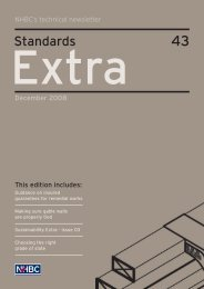 Standards Extra - NHBC Home