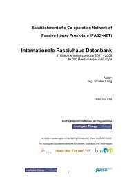 1. Dokumentationsperiode 2007 - IG Passivhaus Tirol