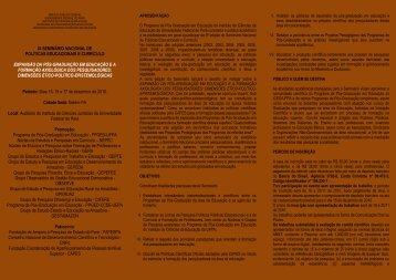ix seminário nacional de políticas educacionais e currículo ...