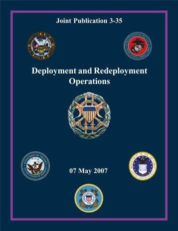JP 3-35 - Defense Technical Information Center