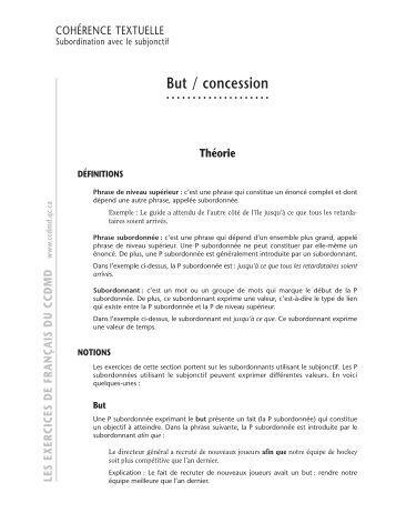 la concordance des temps pdf