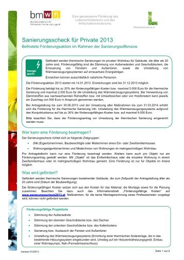 "Infoblatt ""Private"" - Kommunalkredit Public Consulting"
