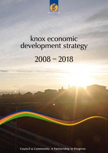 knox economic development strategy 2008 – 2018 - Knox Business ...