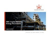 View Presentation - Canadian Oil Sands